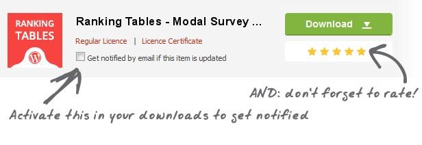 Ranking Tables - Modal Survey Add-on - 5