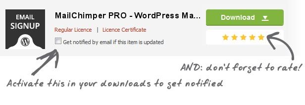 MailChimper PRO - WordPress MailChimp Signup Form Plugin Download
