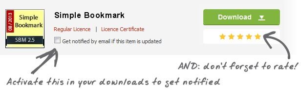 Simple Bookmark Download