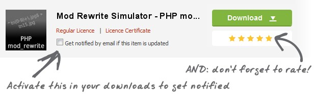 Mod Rewrite Simulator PHP mo. Download Regular Licence Licence Certificate PHP Get notified email this item updated ra.f Ac,va.1e Ais your nofified