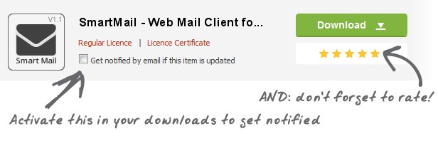 updated Feb26 SmartMail Mail Clientfo. Download Licence Licence Certificate Get notified email this item updated ra.f Ac,va.Ie INs your nofified